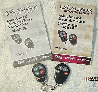 Excaliber Vehicle Security Fobs & Booklets