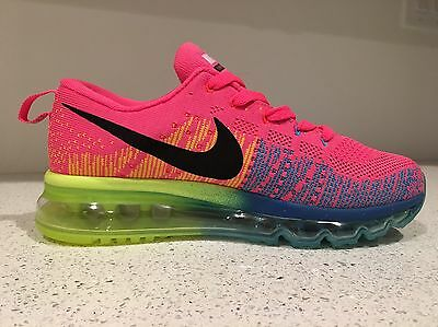 NEW! Women's Nike Air Max Flyknit Size 8 Sneakers/Shoes Running Pink Multi