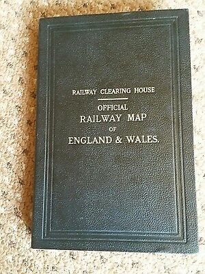 Very Large Railway Clearing House Official Map Of England And Wales Dated 1947