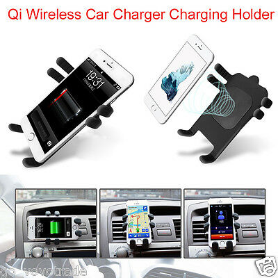 Qi Wireless Car Charger Transmitter Holder Cradle Dock For Samsung S5 S6 S7 Edge