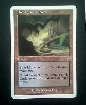 Magic The Gathering MTG - Underground River - 7th Edition