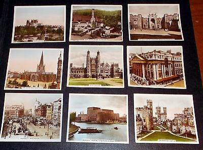 9 R& J Hill Cigarette Cards Views Of Interest Real Photographs Inc York Minster