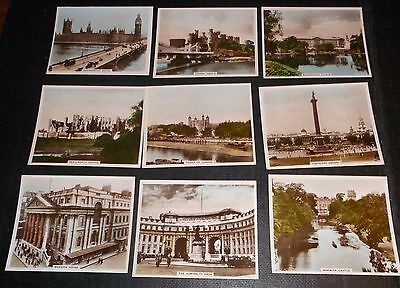 9 R& J Hill Cigarette Cards Views Of Interest Photographs Inc Tower Of London
