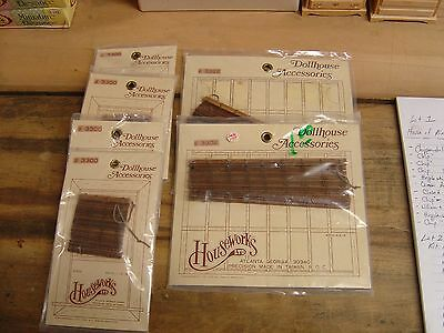 Lot of Houseworks 1/12 Dollhouse Accessories - Blinds and Brackets