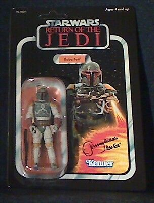 Star Wars Return Of the Jedi  BOBA FETT  Signed by JEREMY BULLOCH