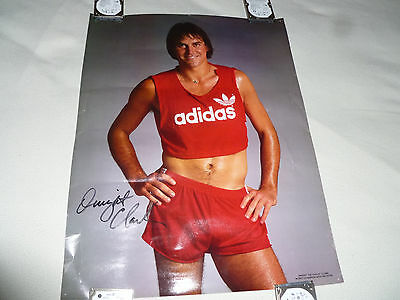 Vintage Signed Dwight Clark The Catch Adidas World Champion Sf 49Ers Poster Auto