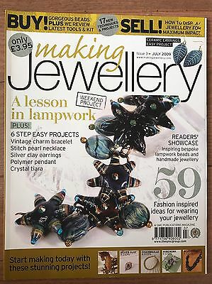 Making Jewellery Back Issue Magazine July 2009 Issue 3 Silver, Lampwork