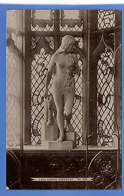 SUPERB  1912c LADY GODIVA COVENTRY LOCAL HHT RP PHOTO VINTAGE POSTCARD