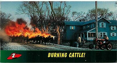 1996 Topps Widevision Mars Attacks Movie Base Card #2 Burning Cattle