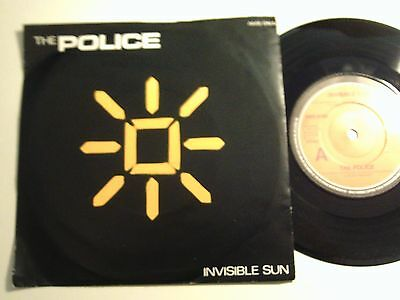 The Police Uk A&m Ps 45 Invisible Man 1981 Ex