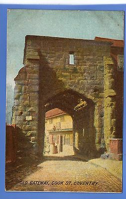 SUPERB  1912c OLD GATEWAY COOK STREET COVENTRY LOCAL ARCADIAN VINTAGE POSTCARD
