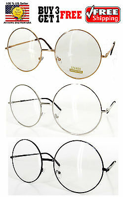 Gold Silver Black Wire Metal Round Frame Harry Potter Custome Clear Lens Glasses