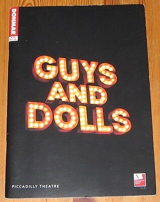 GUYS AND DOLLS - PICCADILLY THEATRE PROGRAMME - Sarah Lancashire