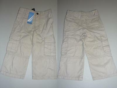 NWT Nautica Baby Boys Beige Cargo Long Pants ~ Size 2T (18-24 months)