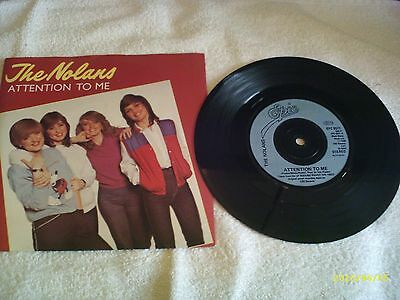 "The Nolans - Attention To Me - 7"" Vinyl Single Record - 80s Classic"
