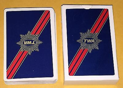 Vintage Deck Of TWA Airlines Playing Cards Celebrity Personal Item