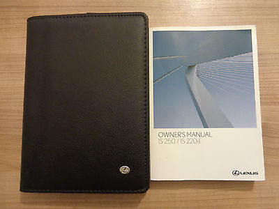 Lexus IS 250/220d Owners Handbook/Manual and Wallet 05-09