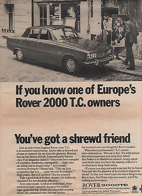 Rover 2000 Tc - Advertisement Page - Look !!