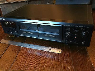 Sony Tc-We405 Twin Double Tape Deck Vintage Dolby Nr Black