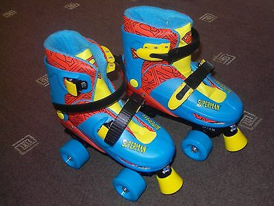 Boys Superman quad skates, adjustable Children size 13-2.5