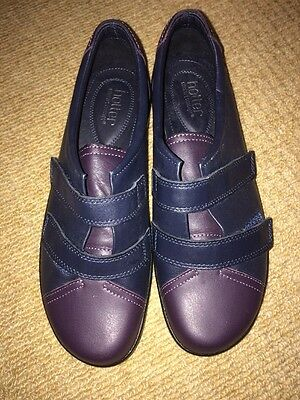 HOTTER brand New Navy And Burgundy Shoes 39 Uk 6