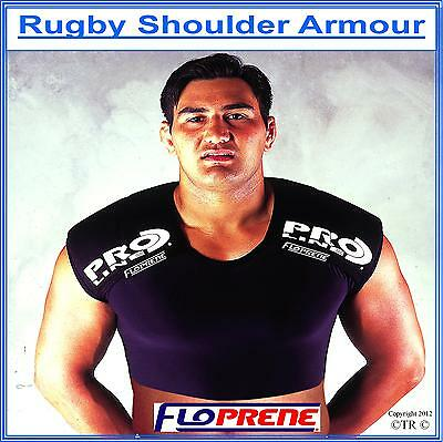 FLOPRENE RUGBY SHOULDER ARMOUR,  Size :L/XL , (P&P FREE Worldwide)