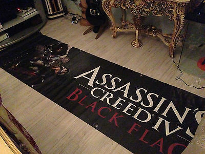 Assassin Creed 4 Black Flag Promotional Store Banner 2 Mt New
