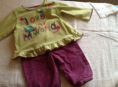 M&S Top and Trousers Outfit 3-6 months