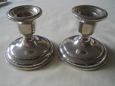 Pair Birks Sterling Candlesticks