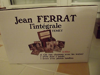 Jean Ferrat / L' Integrale . NEUF . 12 CD . 2 DVD . TRES RARE .....vente FLASH .