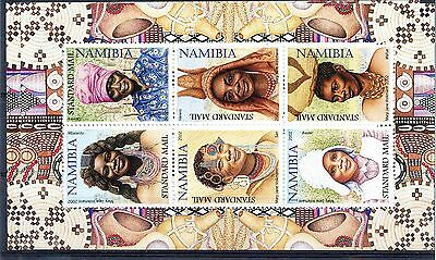Namibia 2002 Traditional Women's Hairstyles and Headdresses. 2 x sheets. MNH