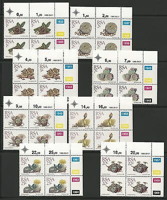South Africa 1988 Succulents. Set in Control Blocks of 4. MNH