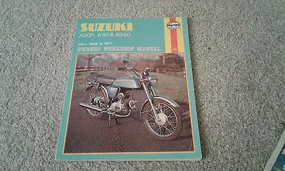 suzuki A50P, A50 & AS50 1969 to 1977 workshop manual