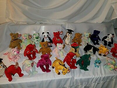 Ty beanie baby lot of 25 mixed beanies