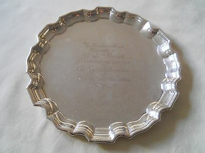 "Birks Sterling Tray 8"" 239 Grams"