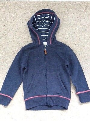 Girls Fat Face Blue Hoodie 4-5 Years