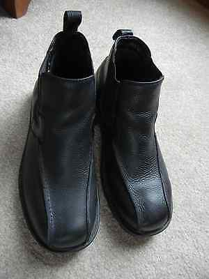 Borelli Leather Black Mens Shoes/Boots size 8 1/2 Romeo style