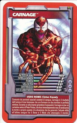 CARNAGE 2005 Marvel Top Trumps SPIDER-MAN
