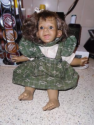 """Vintage Spanish Art.marca Funny Face Expressions Girl Doll, 14"""" Doll"""