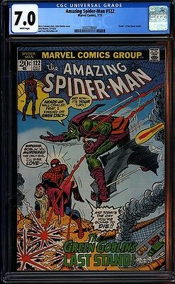 Amazing Spider-man 122 CGC 7.0 WP Bronze Age Key Marvel Green Goblin IGKC L@@K