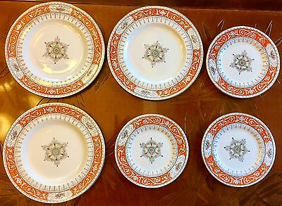 Coalport Montreal Orange Side & Salad Plates Rich Colors