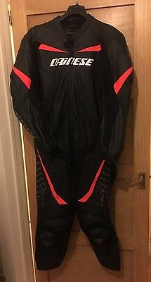 Dainese T.Racing Motorcycle Leather Suit One piece suit size 56