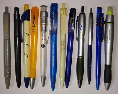 12 Airline pens - Lufthansa (LSG Catering,Miles & More,Technical Training) used