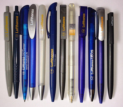 12 Airline pens - Lufthansa (Frankfurt,Germany,50 Years,LEOS,City Center) NEW !!