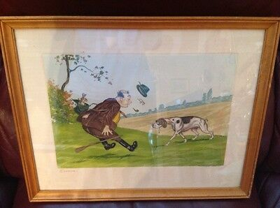 Framed Signed Humourous Hunting Print