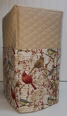 Tan Quilted Birds & Berries Blender Cover w/Pockets READY TO SHIP!!