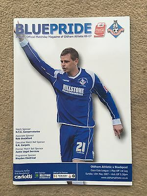 Oldham Athletic v Blackpool - Coca~Cola League 1 Play-Off 1st Leg 2006/07 Progra