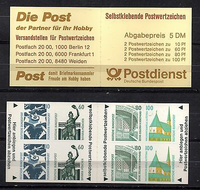 Germany  - Stamp Booklet - Mint - Tourist Sights - Self Adhesive - Cv £29