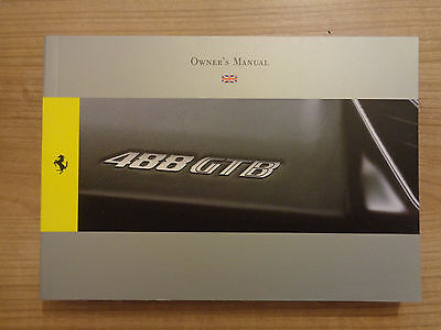 Ferrari 488 GTB Owners Handbook/Manual