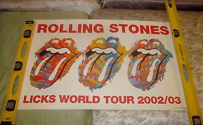 """Rolling Stones-Licks World Tour 2002/03 Poster FAB 33"""" x 22"""""""